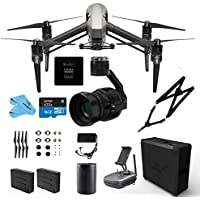 DJI INSPIRE 2.0 Premium Combo Drone Quadcopter 5.2K video, Includes Zenmuse X5S Camera Gimbal, Remote Controller, CinemaDNG & Apple ProRes Activation Key (DJI Inspire 2.0 Premium)