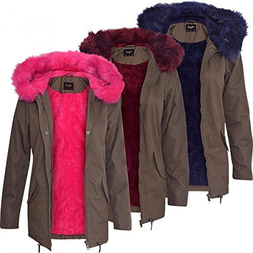 Soft Khaki Coloured Oversized Long Fur Pink Blue Parka 52 Coat Hood Ladies Women Fur s Blue Wine DNM Green Jacket HHF0Yca