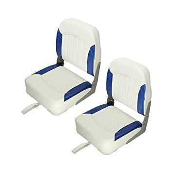 Premium Low Back Boat Seats Fold Down Boat Accessories For Fishing Hunting 4 Color 2 Seats