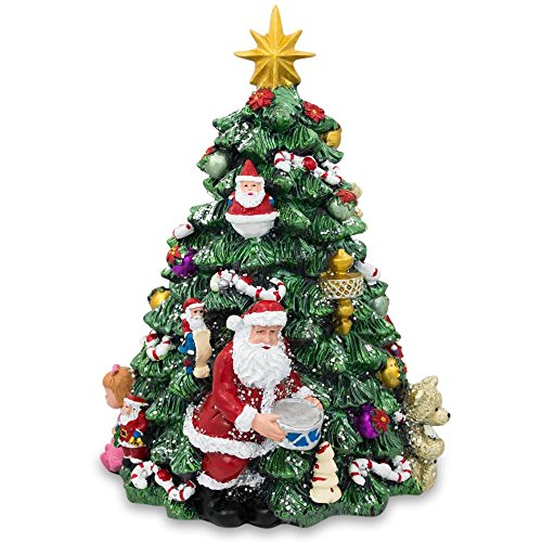 (BestPysanky Musical Rotating Tabletop Christmas Tree with Santa)