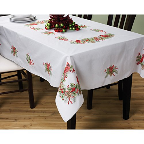Stamped Cross Stitch Tablecloth - 1