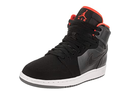 0987b23594 ... cheap nike jungen air jordan 1 retro high bg basketballschuhe orange  schwarz grau 5b604 a875c