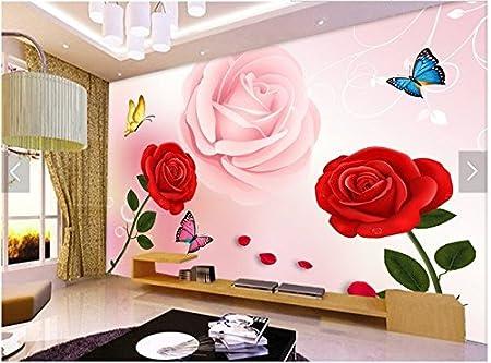 Y-Hui European style 3d modern rose rose red rose TV background ...