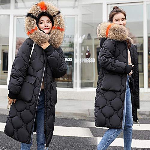 Invernali Autunno Maniche Lunghe Donna Con mambain Jacket Casual Ragazza Addensare Trench Forti Down Lungo Cappotto Nero Da Moda cappotti Cappuccio Giacca Eleganti Taglie 08WYz