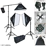 Linco Lincostore Continuous Photography Video Studio 3 Softbox Boom Stand Digital Video Hair Lighting AM170 W/12 Light Bulb