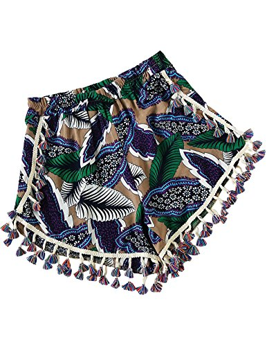 SweatyRocks Women's allover Printed High Waist Summer Shorts