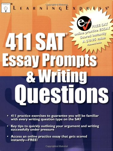 sat essay prompts history Coming up with a good topic can be one of the hardest parts of composing an essay these 400 topic suggestions should make that job a little easier.