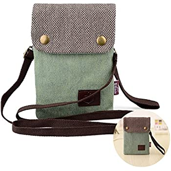 Girls Women Mini Cute Crossbody Bag Wristlet Cellphone Wallet Purse Loose Change Pouch for iPhone X 8 7 Plus 6S 5S Samsung Galaxy S8+ S7 S6 Edge S5 Clutch Handbag with Shoulder Strap Gift