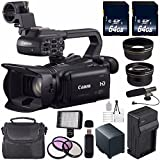 Canon XA20 Professional HD Camcorder #8453B002 (International Model) + 64GB SDXC Class 10 Memory Card + BP-820 Replacement Lithium Ion Battery + External Rapid Charger Bundle