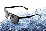 Yougarr Group Retro Wayfarer Sunglasses Polarized Metal Frame for men women