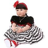Love Bella 23'' Soft Body Cute Realistic Toddler Dolls Lifelike Simulation Baby Dolls for Kids Birthday Accompany Baby's Growth