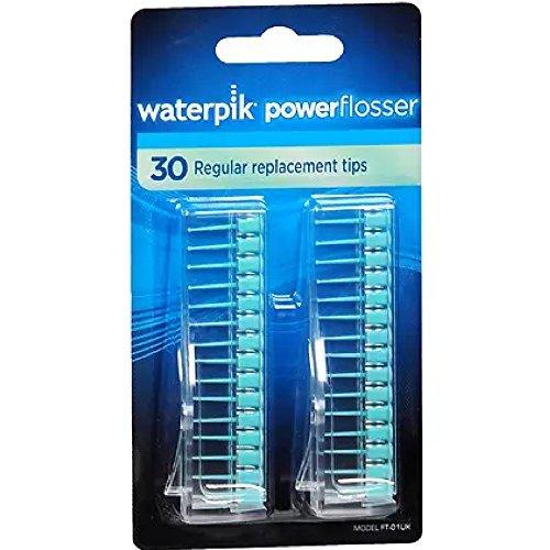 (Waterpik Powerflosser Regular Replacement Tips FT-01 30 ea ( Pack of 3))