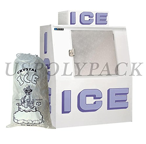 8 lb Ice Bags with Drawstrings 11 in x 18 in x 1.4 mil Case:500 Heavy Duty Commercial Grade by USPolyPack (Image #4)