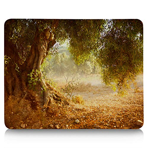 Computer Mouse Pad Custom, Old Olive Tree Mouse Mat Non-Slip Rubber Base and Jersey Surface Gaming Mouse Pad for Laptop/Desktop/Office/Home 9 x 8 inch