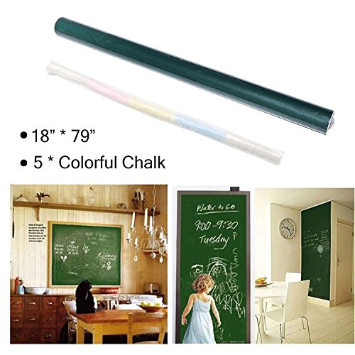 Dry Erase Boards Self-Adhesive Chalkboard Wall Sticker Wall Paper Sticky Vinyl Chalkboard Decal Roll Erase Message Board Blackboard Paint Wallpaper Greenboard for Home Office 79