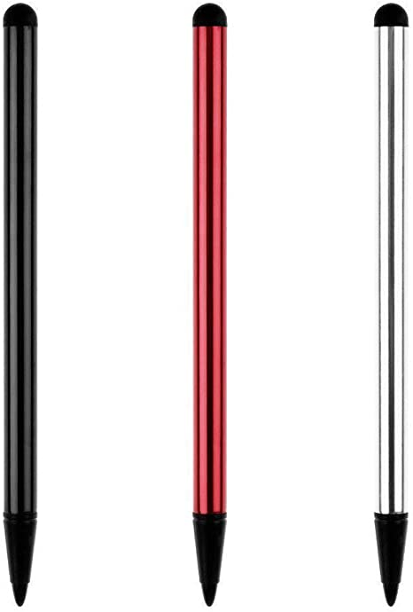 Capacitive Resistive Touch Screen Stylus Pen for Phone//Kindle//Tablet Red