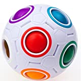 Toys : CuberSpeed Rainbow Ball Magic cube Fidget toy puzzle Magic Rainbow ball puzzle Fun fidget