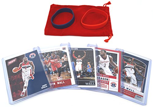 (John Wall Basketball Cards Assorted (5) Bundle - Washington Wizards Trading Cards # 2)