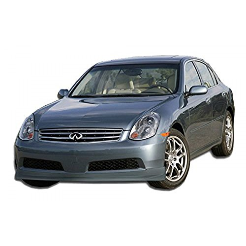 (KBD Body Kits Compatible with Infiniti G35 4DR Sedan 2005-2006 IL Spec Style 1 Piece Flexfit Polyurethane Front Lip. Extremely Durable, Easy Installation, Guaranteed Fitment, Made in the USA!)