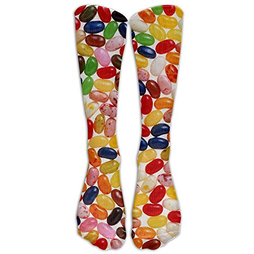 Static Jelly Beans Unisex Outdoor Protective Elastic Stocking Crew Long Tube Socks