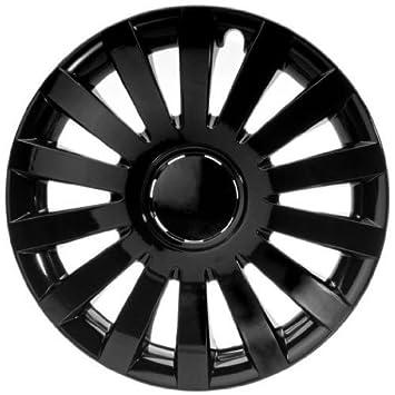 4 Tapacubos Tapacubos tipo Wind Black Negro Apto Para Alfa 13 pulgadas Llantas de Acero: Amazon.es: Coche y moto