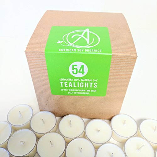 American Soy Tealights (6-7 Hour Burn time) (54)