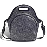 Neoprene Lunch Tote ,Lunch Bags with Shoulder Strap Reusable Foldable Washable Handbags