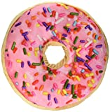 Sprinkle Donut Pillow with Pink Frosting and Strawberry Scent by Top Trenz