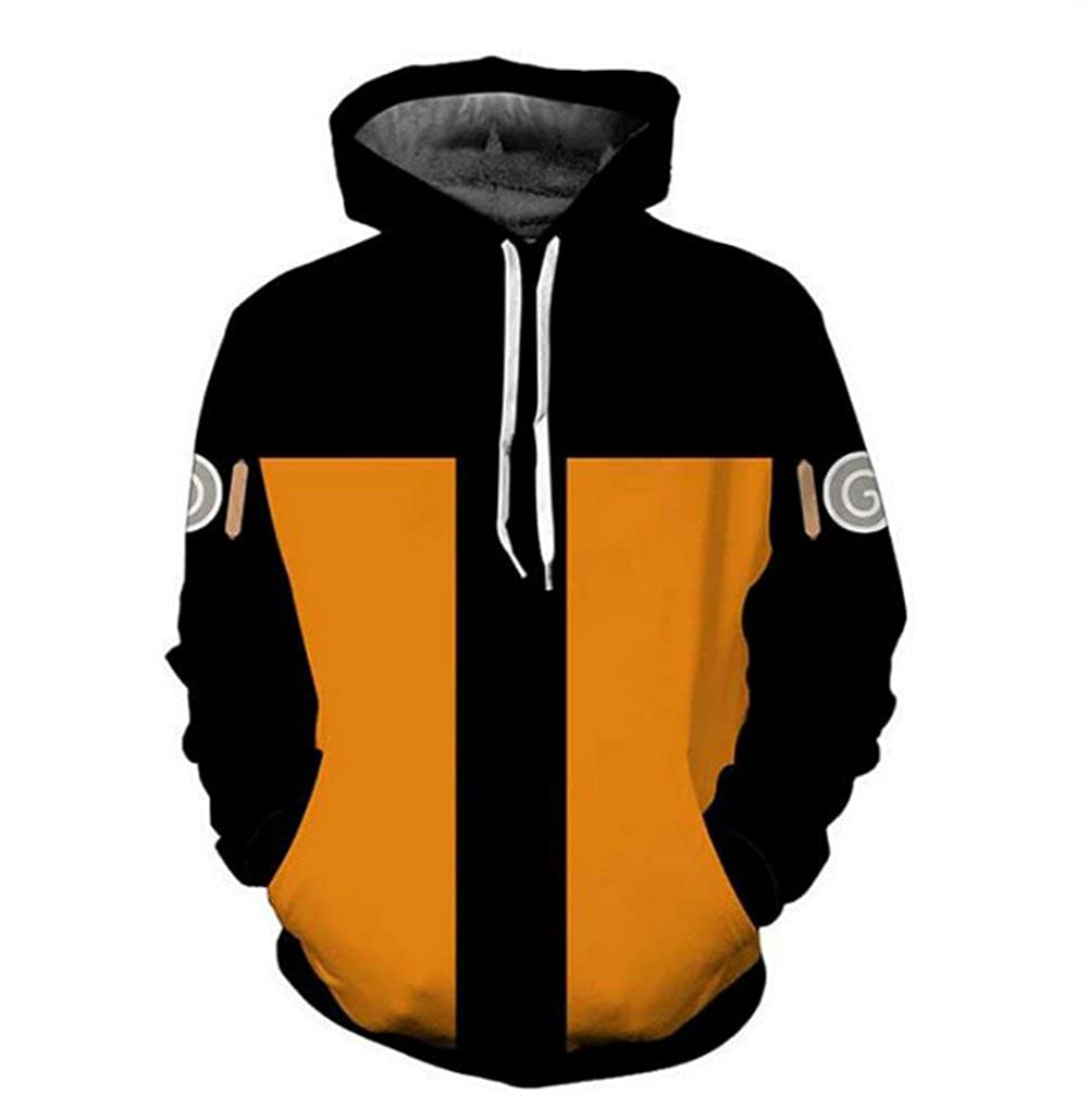Anime Naruto Mens Hoodie Sweater Long Sleeve Pullover Hooded Jacket Sweatshirt