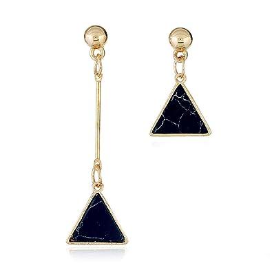 5ca2fe488c8d Mode Crackle Türkis asymmetrische Ohrring Perle Geometrie Volks-Brauch  Ohrringe silber Damen 925 Sterling Silber