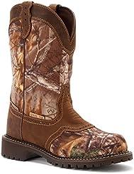 Justin Womens Gypsy Waterproof Nylon Saddle Vamp Work Boot Steel Toe