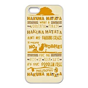 Case For Ipod Touch 4 Cover Case the Lion King Quotes Hakuna Matata, Girls Protective Case Stevebrown5v - White