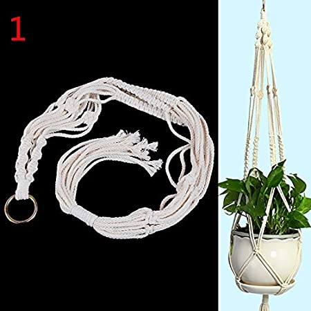 Handmade Pot Holder Macrame Plant Hanger Hanging Planter Basket Jute Rope Braide