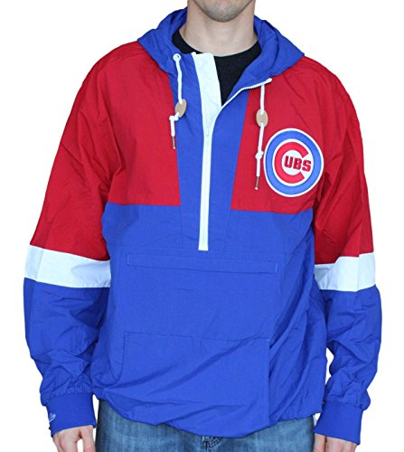 Mitchell & Ness Chicago Cubs Half Zip Windbreaker Extra Extra Large - Cubs Chicago Jacket