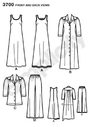 e3aa23fcc7958a Amazon.com  Simplicity Easy-to-Sew Pattern 3700 Women s Pants