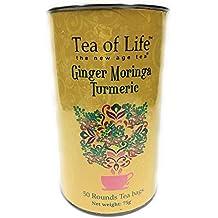Tea of Life Ginger Moringa Turmeric Tea 50 Rounds Tea Bags 75 g