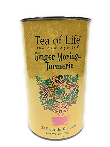 Sanchez Bag - Tea of Life Ginger Moringa Turmeric Tea 50 Rounds Tea Bags 75 g