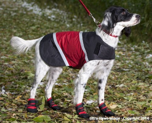 ULTRA PAWS REFLECTIVE RED DOG JACKET WATER RESISTANT ALL SIZES WINTER FLEECE LINED (Medium) by Ultra Paws (Image #4)