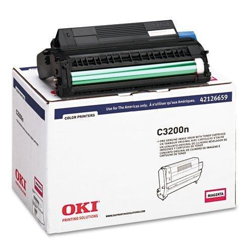 OKI42126659 - Oki Type C6 Magenta Image Drum for C 3200 and C 3200N Printers ()