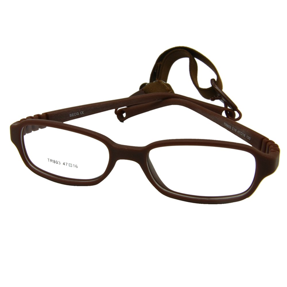 EnzoDate Kids Optical Glasses Frame Size 47-16-120 with Cord, No Screw Bendable