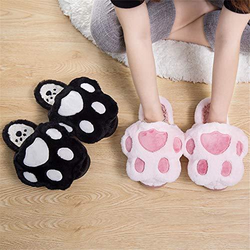 Gato Black Invierno Animados Zapatos Casa De Oso Zapatillas Resbalón Garra Pata Felpa Dibujos Lhxyx wOq1B0YIw