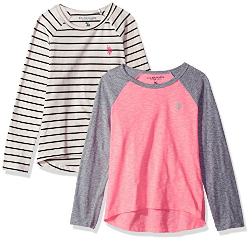 U.S. Polo Assn. Girls' 2 Pack Long Sleeve T-Shirt