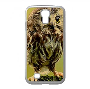 Cute Owl Watercolor style Cover Samsung Galaxy S4 I9500 Case (Birds Watercolor style Cover Samsung Galaxy S4 I9500 Case)