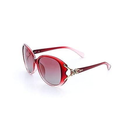 Gafas de Sol polarizadas para Mujer Gafas de Moda Retro para Mujer Street Shot Gafas de