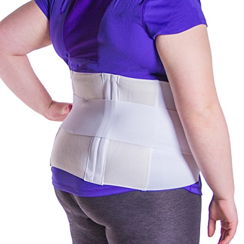 BraceAbility Plus Size 3XL Bariatric Back Brace | XXXL Big & Tall Lumbar Support for Larger or Overweight People with Back Pain (Fits 52