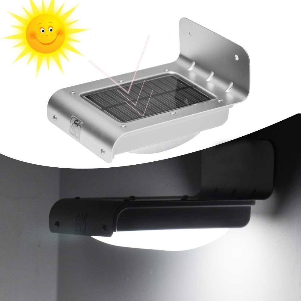 electrowide 16 bright led wireless solar powered motion sensor
