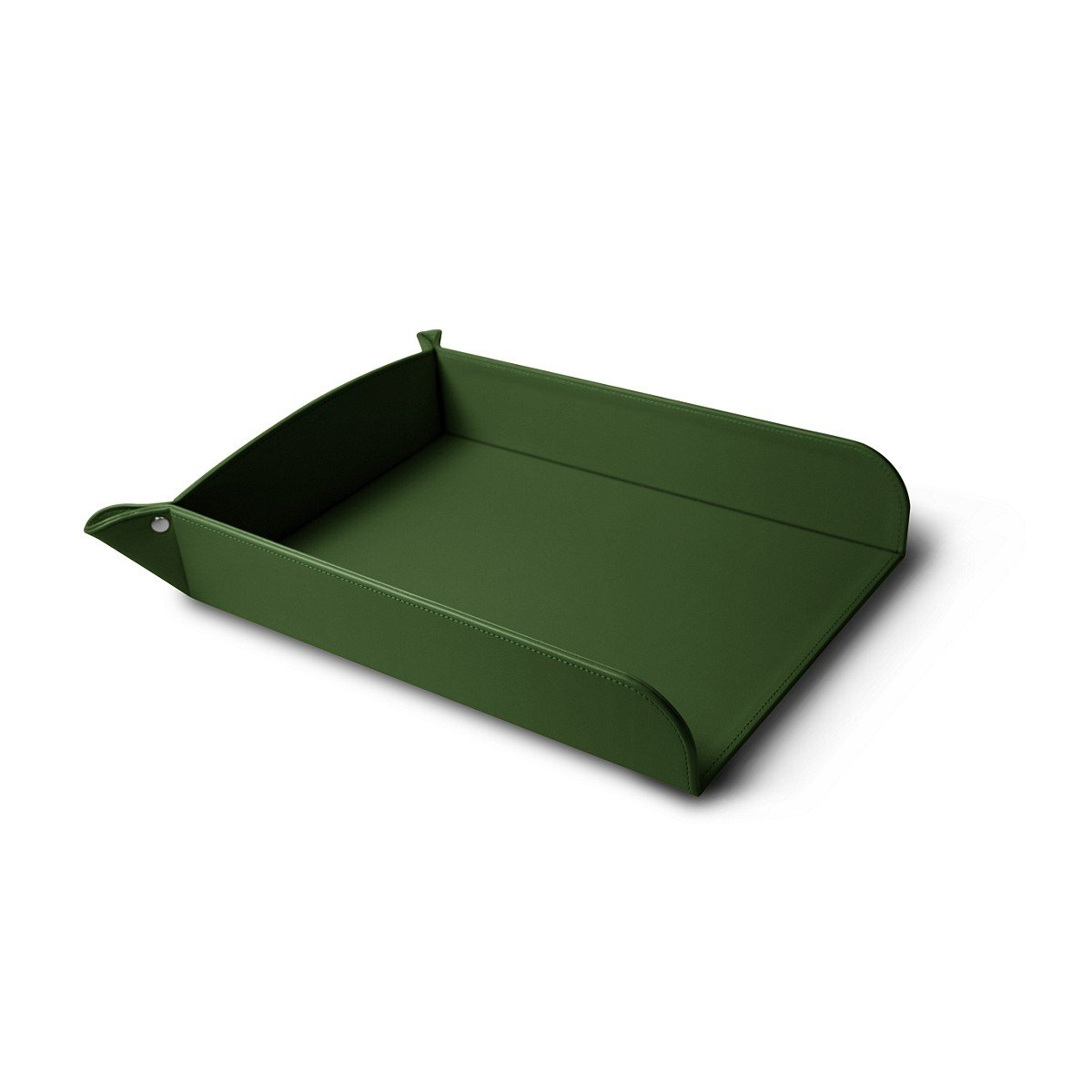 Lucrin - A4 Paper Tray - Light Green - Smooth Leather