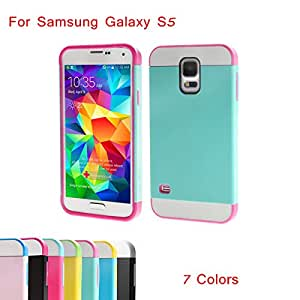 Link Dream Contrast Color Lightweight Fashion Shell Design Protective Back Phone Case for Samsung Galaxy S5 --- Color:Blue