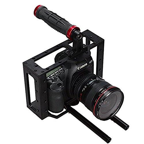 Sunrise デジタル一眼レフカメラケージ トップハンドル Canon 5D II III 7D 60D HSR-609 B07G861FQY