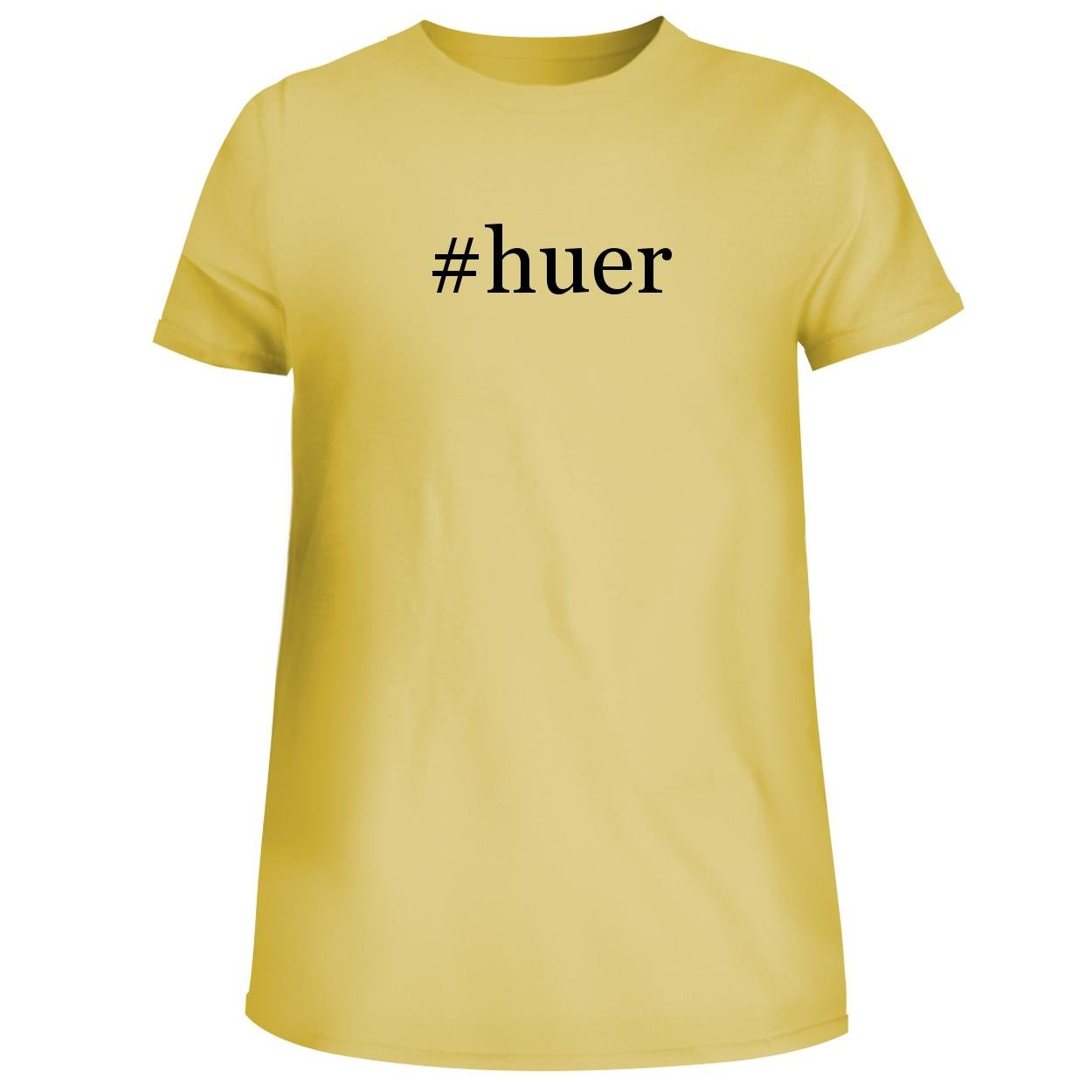 BH Cool Designs #Huer - Cute Women's Junior Graphic Tee, Yellow, Small